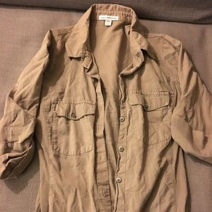 James Perse button up top XS